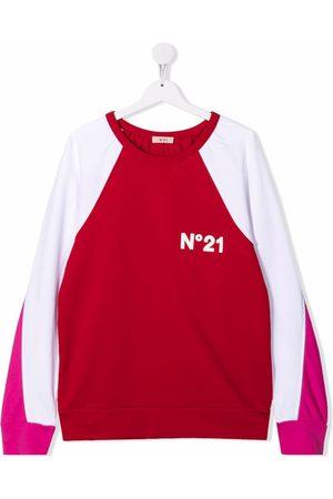 Nº21 TEEN colour-block sweatshirt