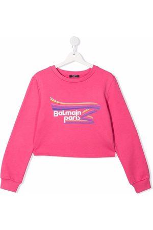 Balmain TEEN logo-print jumper