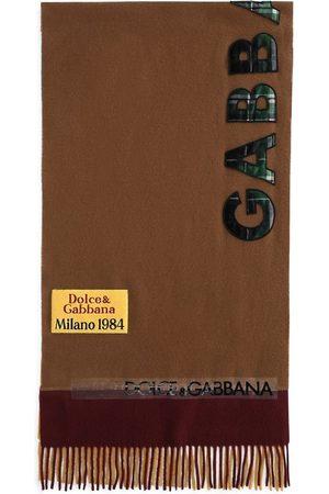 Dolce & Gabbana Heren Sjaals - Logo-appliqué wool scarf