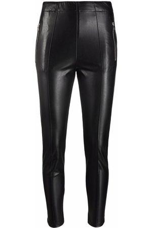 ERMANNO SCERVINO Dames Leren broeken - Skinny-cut leather-look trousers