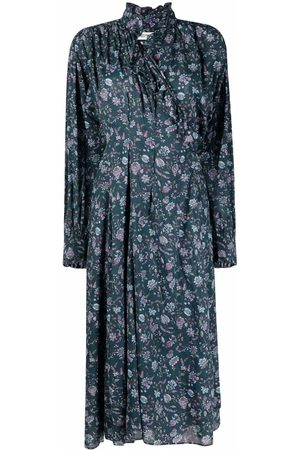 Isabel Marant Dames Geprinte jurken - Floral print midi dress
