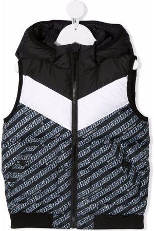 Givenchy Jongens Bodywarmers - Feather down logo-print gilet