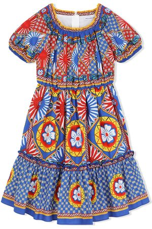 Dolce & Gabbana Meisjes Casual jurken - Carretto print midi sundress
