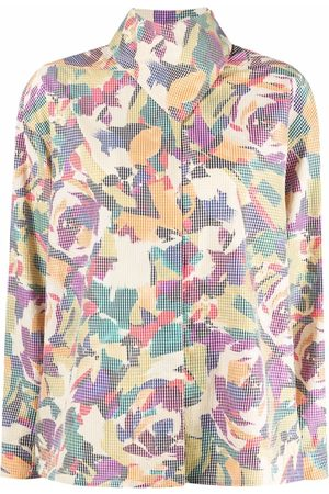 Kenzo Abstract-print high-neck blouse