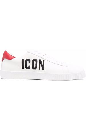 Dsquared2 Dames Sneakers - Icon-embroidered calf leather sneakers