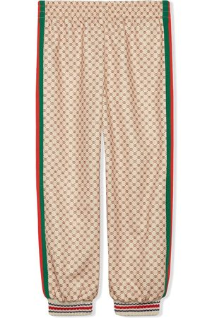 Gucci Kids Technical jersey track trousers