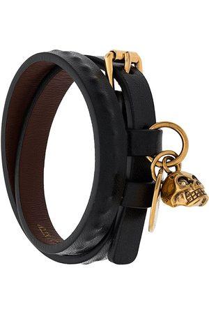 Alexander McQueen Heren Armbanden - Double wrap skull bracelet