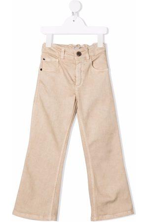 Brunello Cucinelli Meisjes Straight - Straight-leg cotton jeans