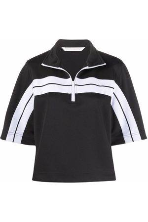 Palm Angels Dames Poloshirts - Logo-print track polo shirt