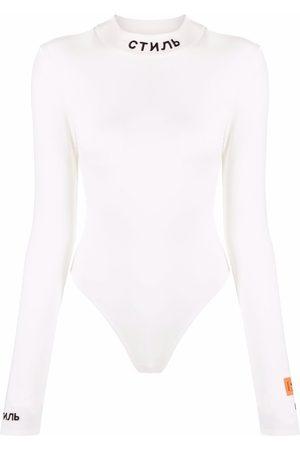 Heron Preston Dames Bodysuits - KNIT BODY LS CTNMB CREAM BLACK