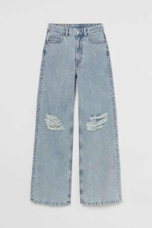 H&M Dames Bootcut - Wide High Jeans