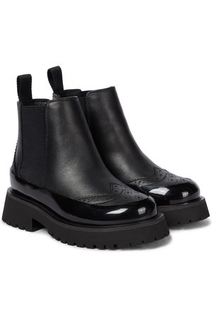 Burberry Kids Leather ankle boots