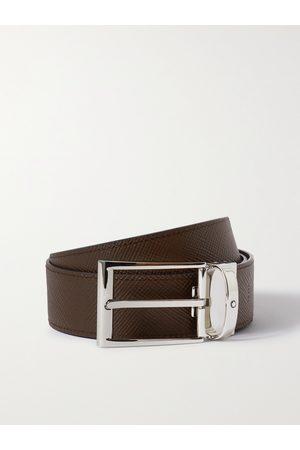 Mont Blanc 3.5cm Reversible Textured-Leather Belt