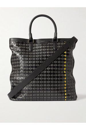 SERAPIAN Woven Leather Tote Bag