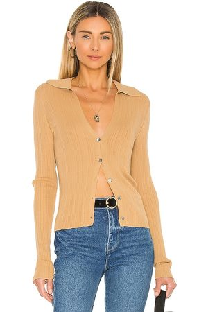 Vince Ribbed Polo Cardigan in
