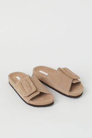 H & M Dames Slippers - Suède slippers