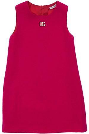 Dolce & Gabbana Meisjes Mouwloze jurken - Logo Sleeveless Wool Dress