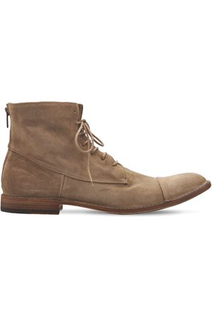 PANTANETTI 25mm Suede Zip Ankle Lace-up Boots