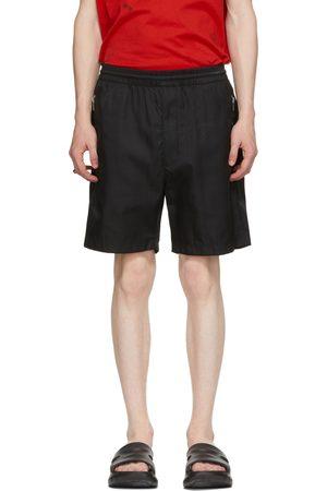 Givenchy Black Nylon Logo Shorts
