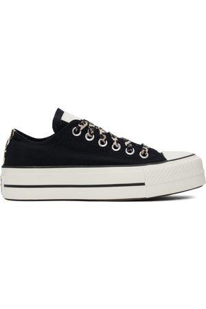 Converse Dames Platform - Black Platform Chuck Taylor All Star Low Sneakers