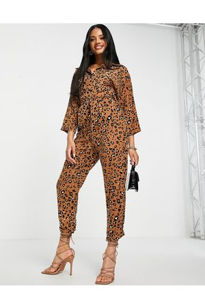 AX Paris Relaxed jumpsuit in animal-Multi
