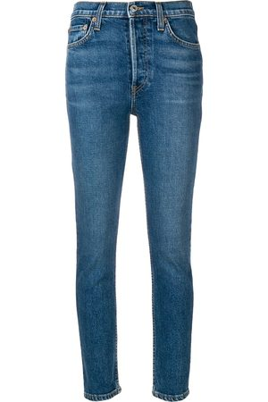 RE/DONE Dames High waisted - High Rise Ankle Crop jeans