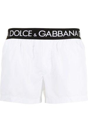 Dolce & Gabbana Logo-waistband swim shorts