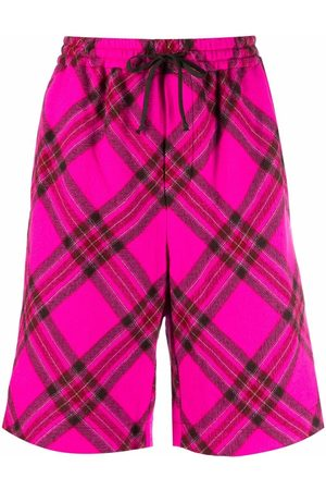 Serafini Tartan check print shorts