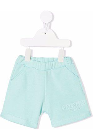 Balmain Logo-debossed cotton shorts
