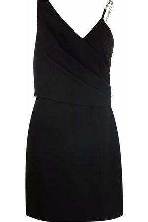 Givenchy Chain-strap asymmetric-neck dress