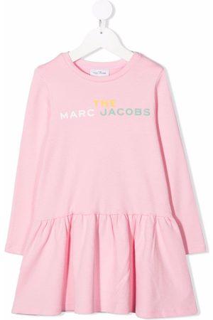 The Marc Jacobs Logo-print long-sleeved dress