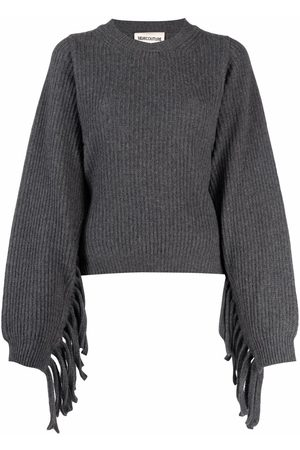 SEMICOUTURE Alexi fringed-sleeve jumper