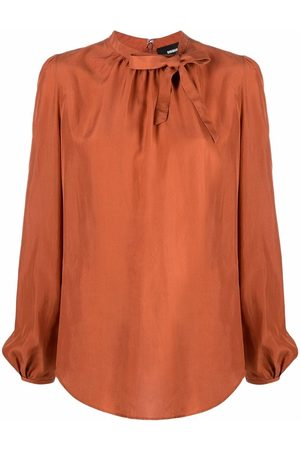 Dsquared2 Tied-neck puff-sleeves blouse