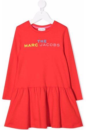 The Marc Jacobs Logo-print flared dress