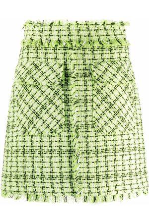 Msgm A-Line tweed skirt