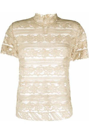 Pinko Sheer lace embroidered blouse