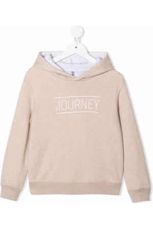 Brunello Cucinelli Journey-print cashmere hoodie