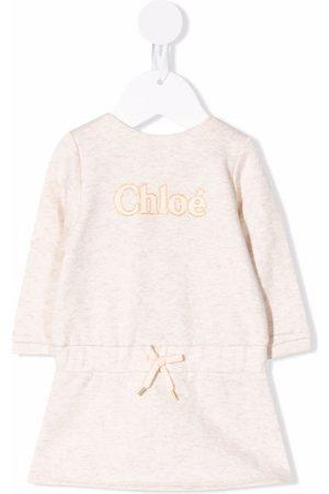 Chloé Logo print sweater dress