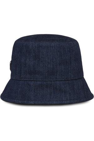 Prada Logo patch denim bucket hat