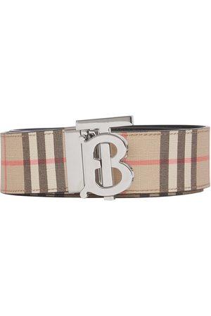 Burberry Reversible monogram-plaque checked belt
