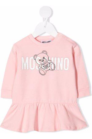 Moschino Teddy Bear logo-print flared dress