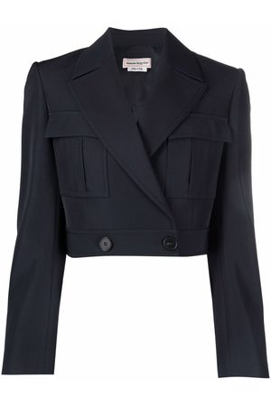 Alexander McQueen Cropped military jacket