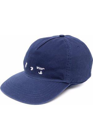 OFF-WHITE OW LOGO BASEBALL CAP DEEP WHITE