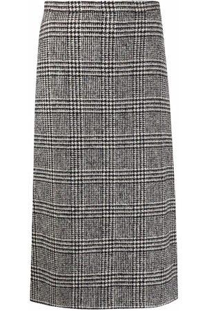 ERMANNO SCERVINO Check-print pencil skirt