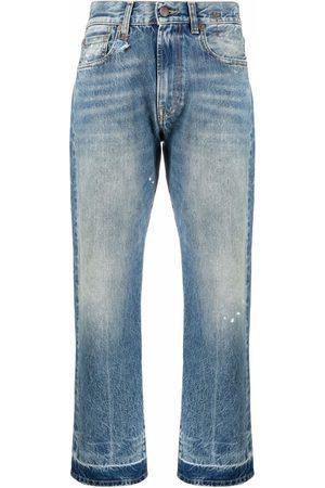 R13 Boyfriend mid-rise straight jeans