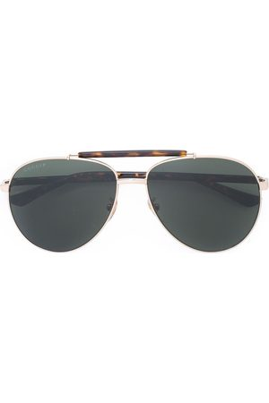 Gucci Mixed material aviator sunglasses
