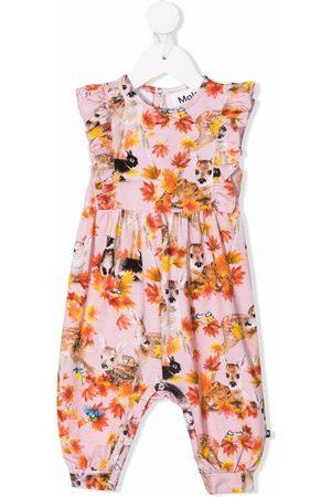 Molo Kids Floral-print sleeveless romper