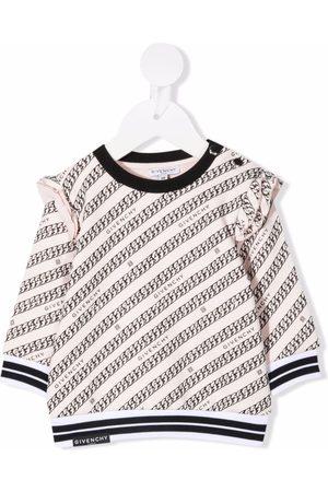 Givenchy Chain-print ruffled sweatshirt