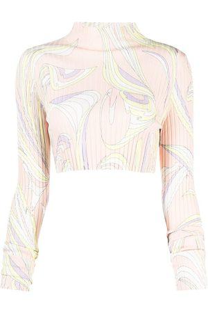 Emilio Pucci Vortici knitted crop top