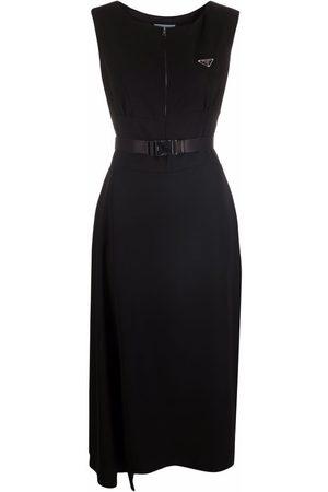 Prada Nylon logo-plaque dress